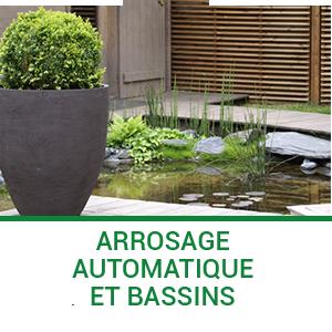 Arrosage automatique et bassins